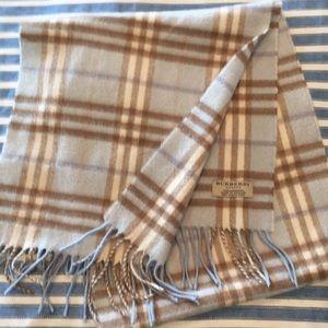 Burberry 100% cashmere scarf.
